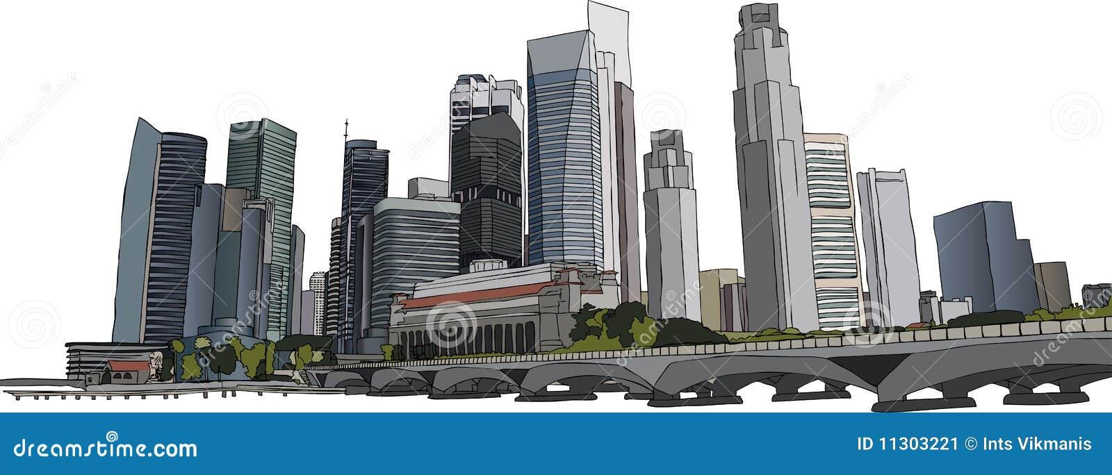 Singapur-Stadtbild
