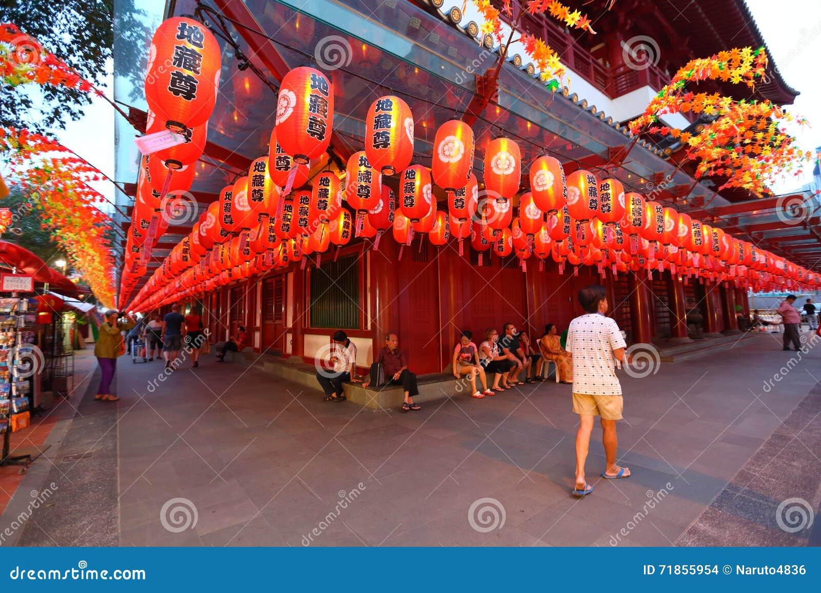 Singapur: Templo de la reliquia de Buda Toothe