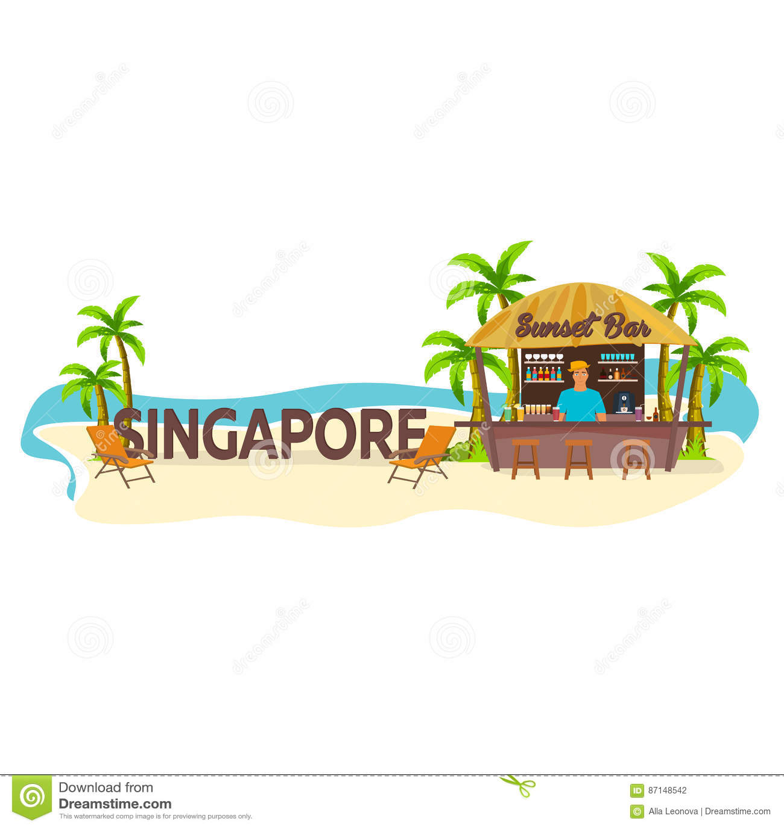 Singapur Viajes Palma, bebida, verano, sillón, tropical
