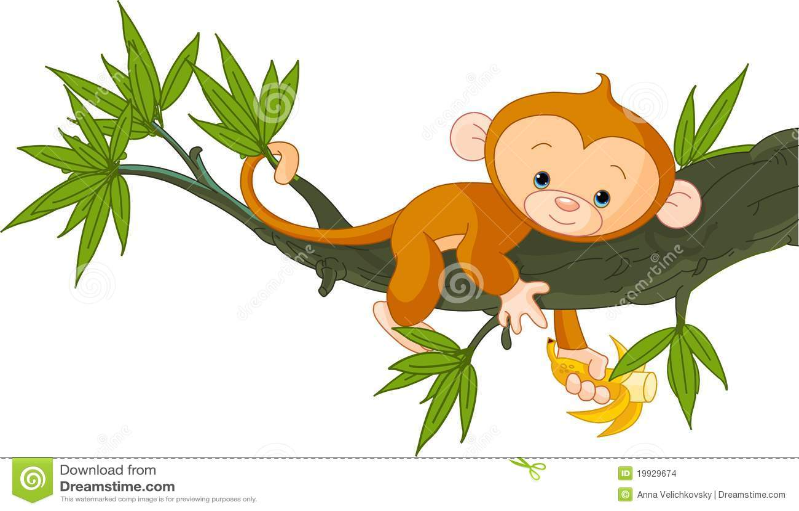 Singe de chéri sur un arbre