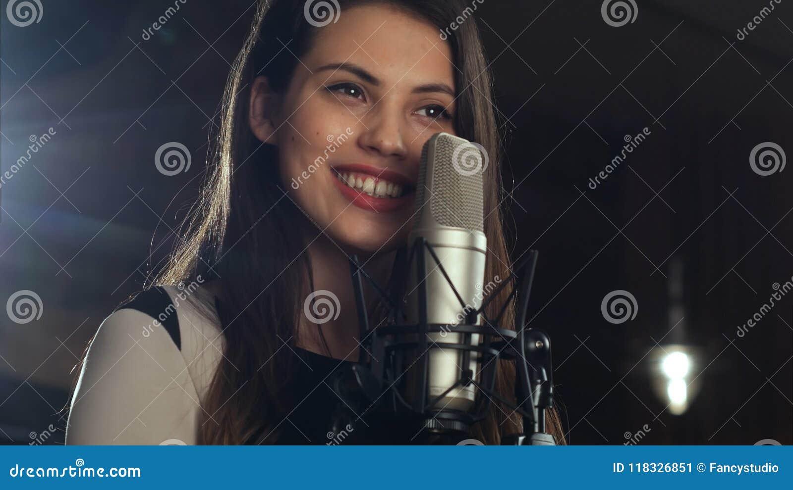 Human Mouth Singing Microphone Singer Stock Photos