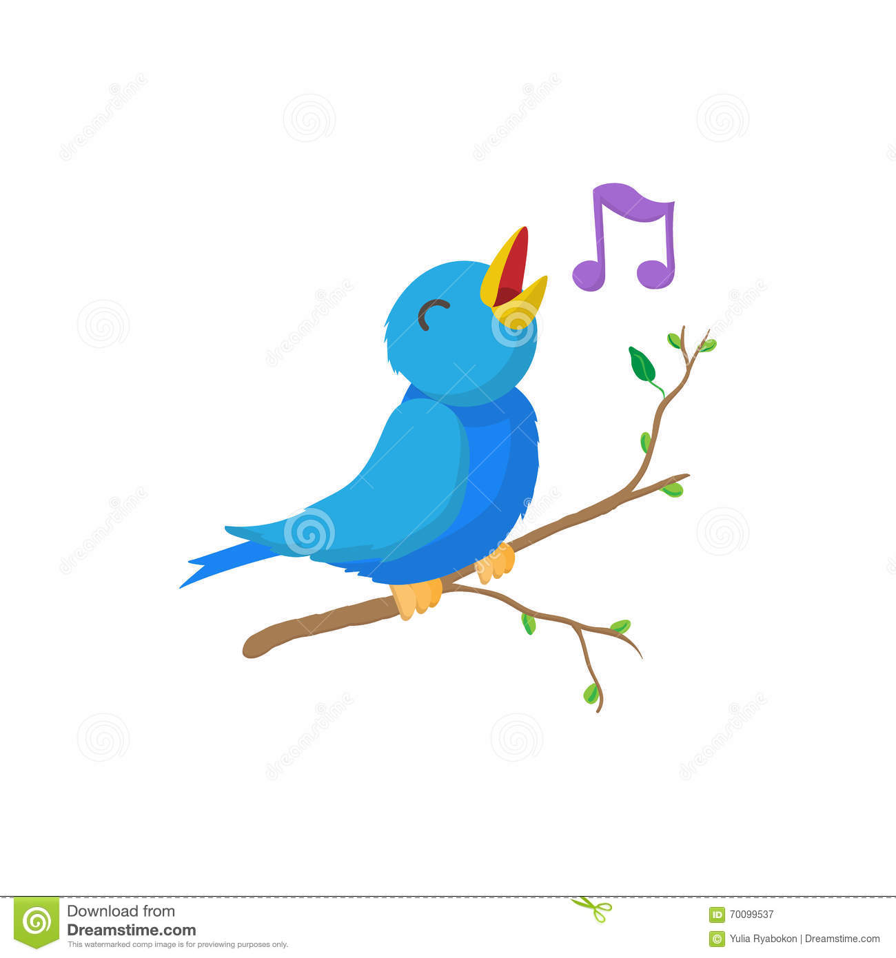 singing bird icon  cartoon style stock vector image clip art of people walking clip art of people walking right