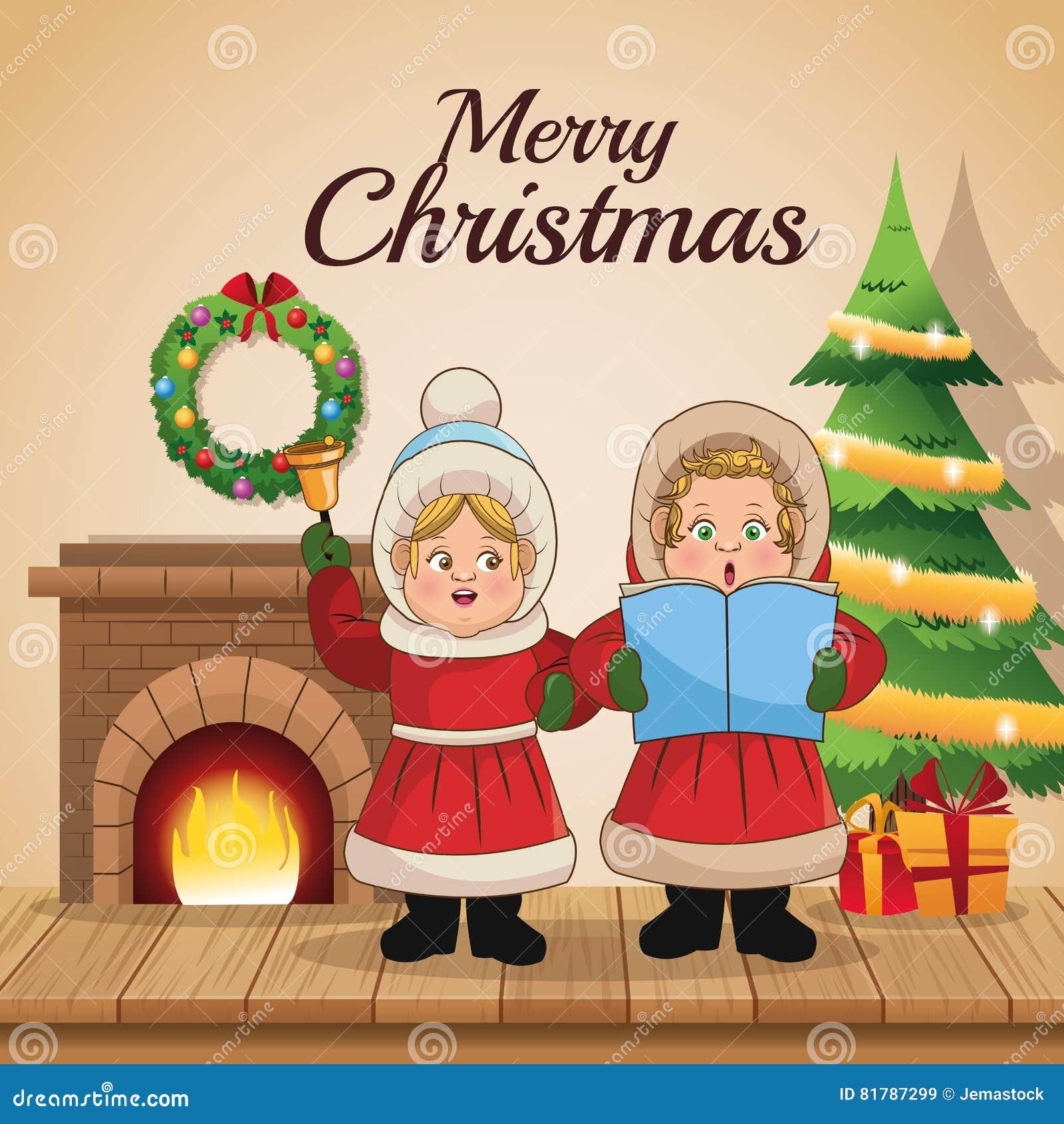 Christmas Carol Singers Decorations: Christmas Carol Singing Decorations
