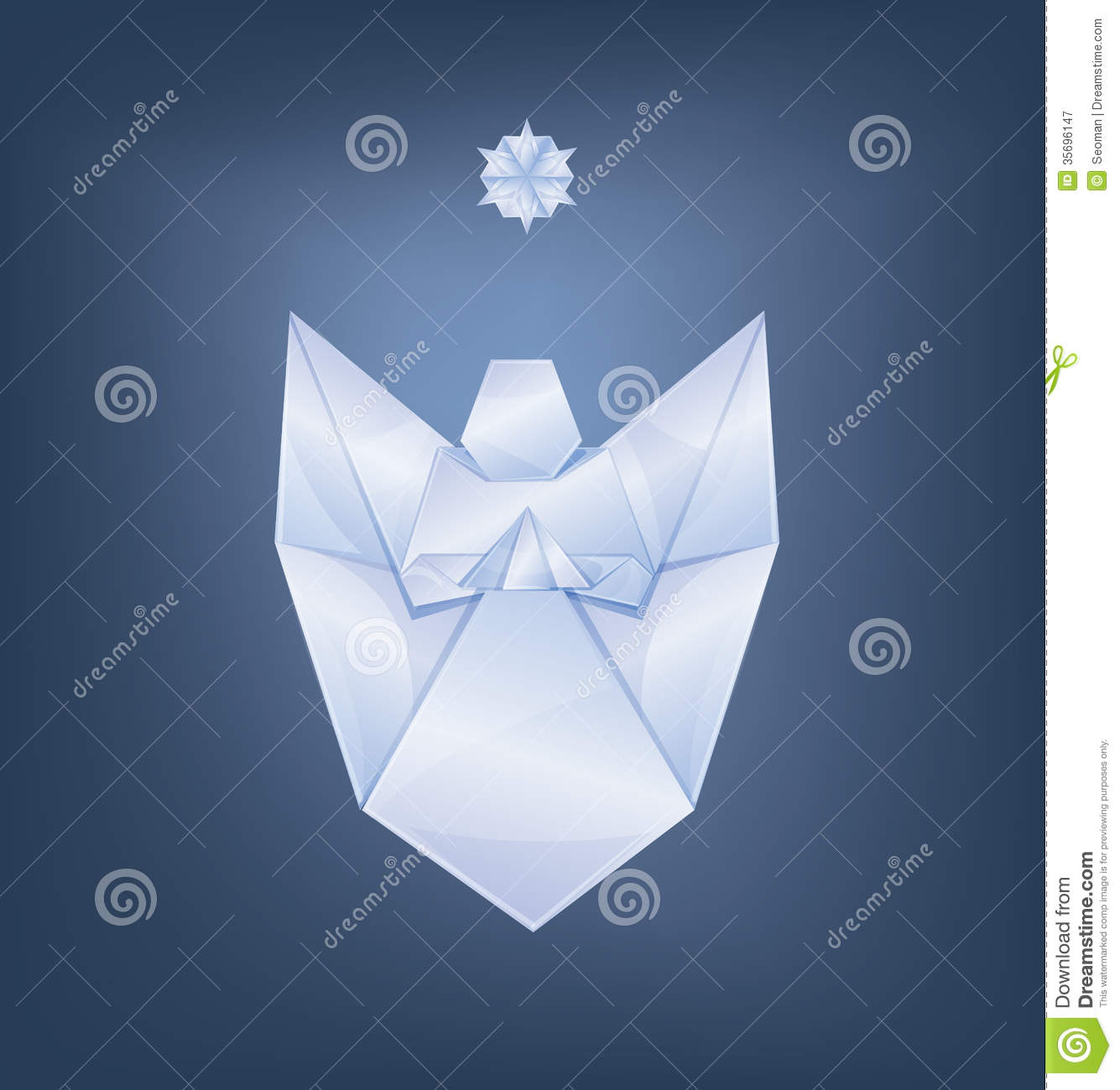 Singing Christmas Angel With First Star Origami Royalty ... - photo#17