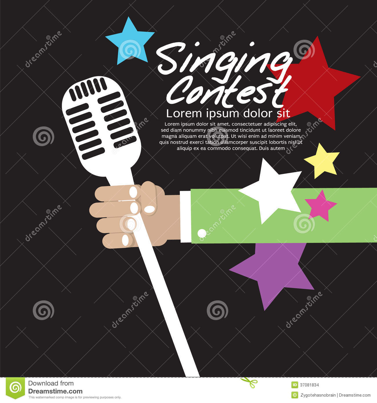 singing contest conceptual stock vector image 37081834 clipart of christmas clipart of christmas wreath