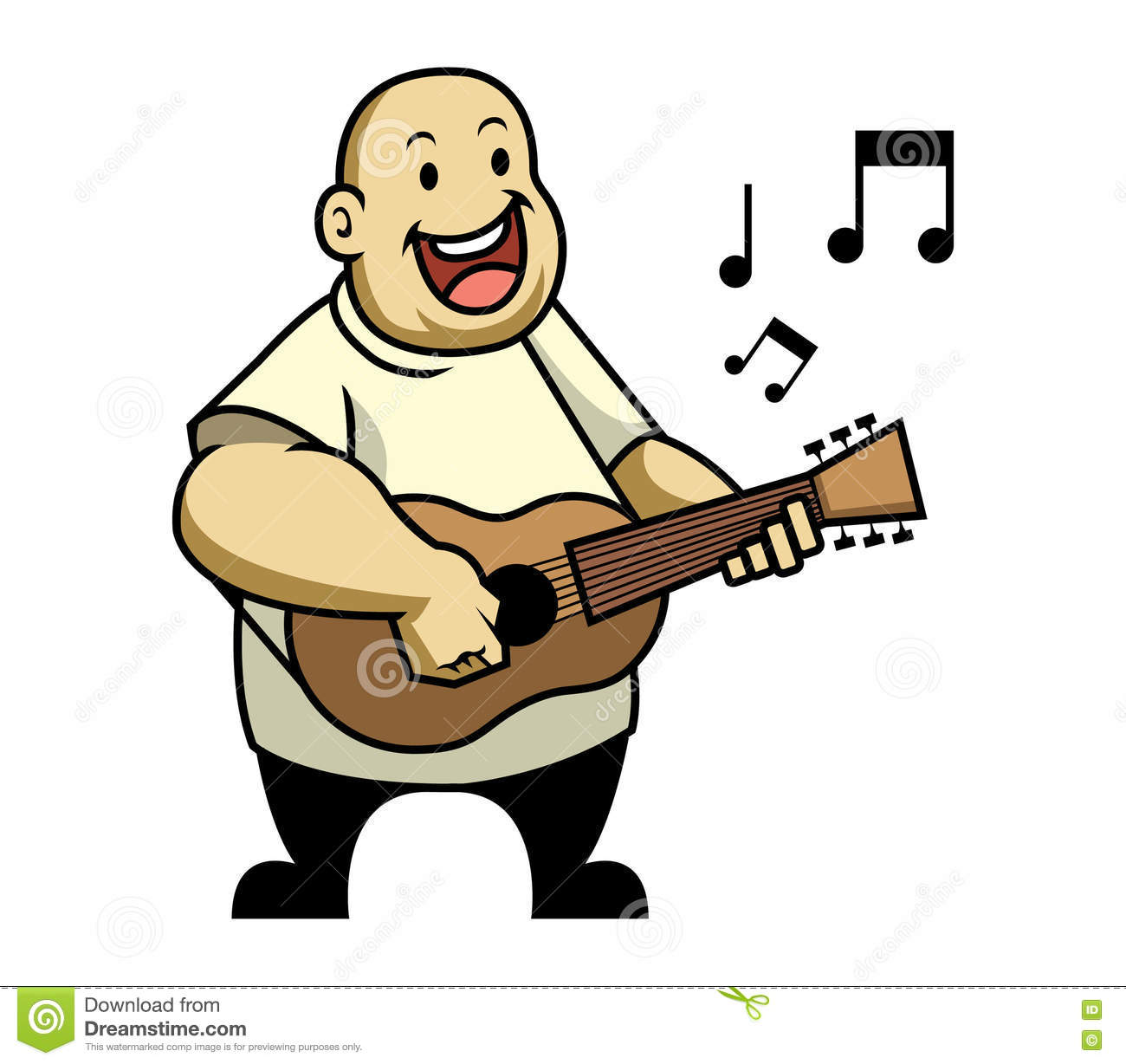 Singing Fat Kid Stock Vector - Image: 73252854