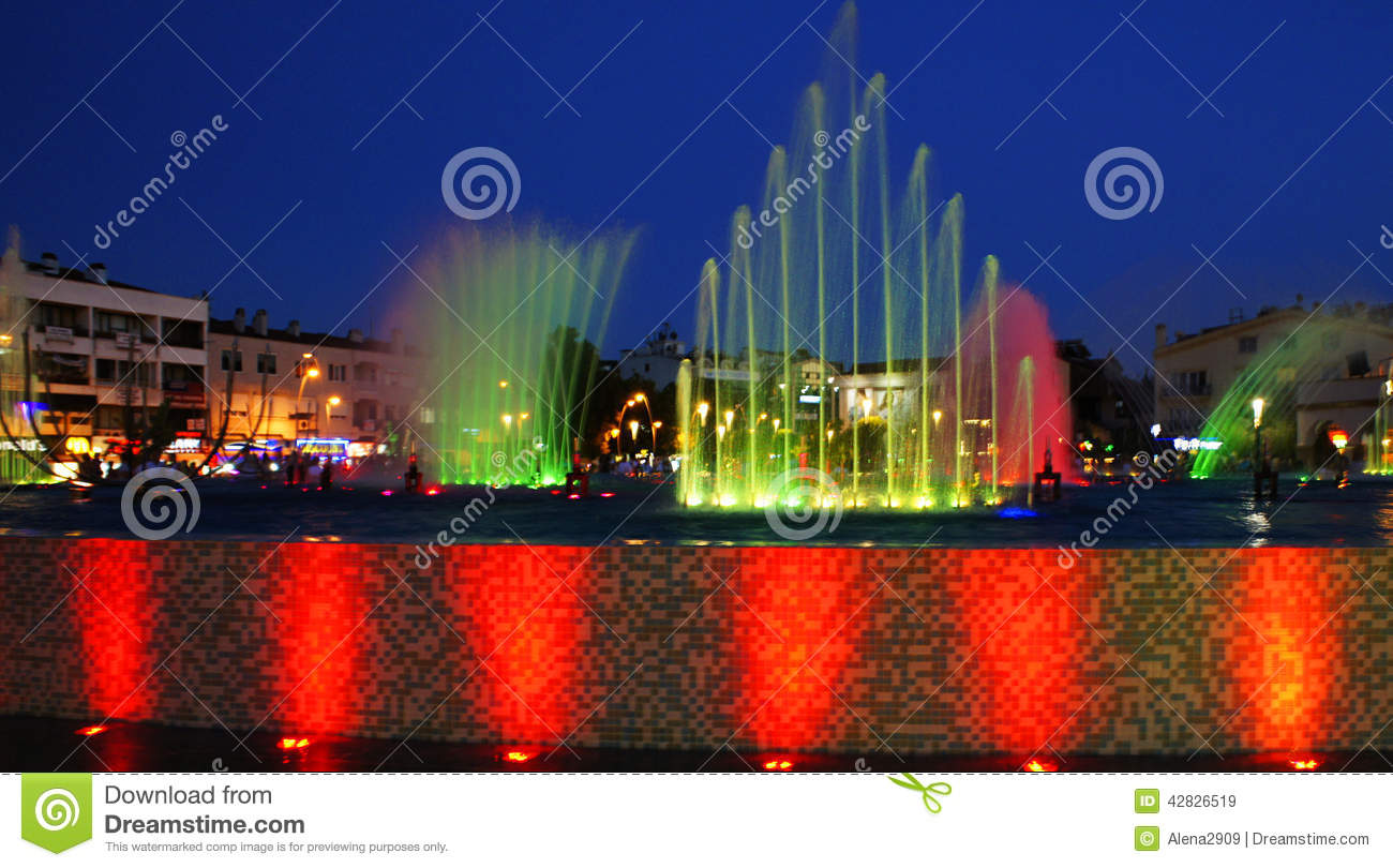 Download Singing fountains stock image. Image of design, exposure - 42826519