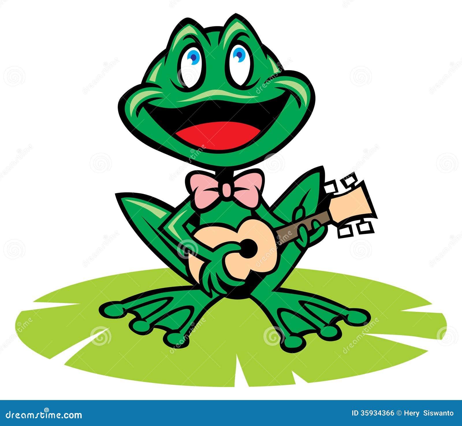 Singing Frog Royalty Free Stock Image - Image: 35934366