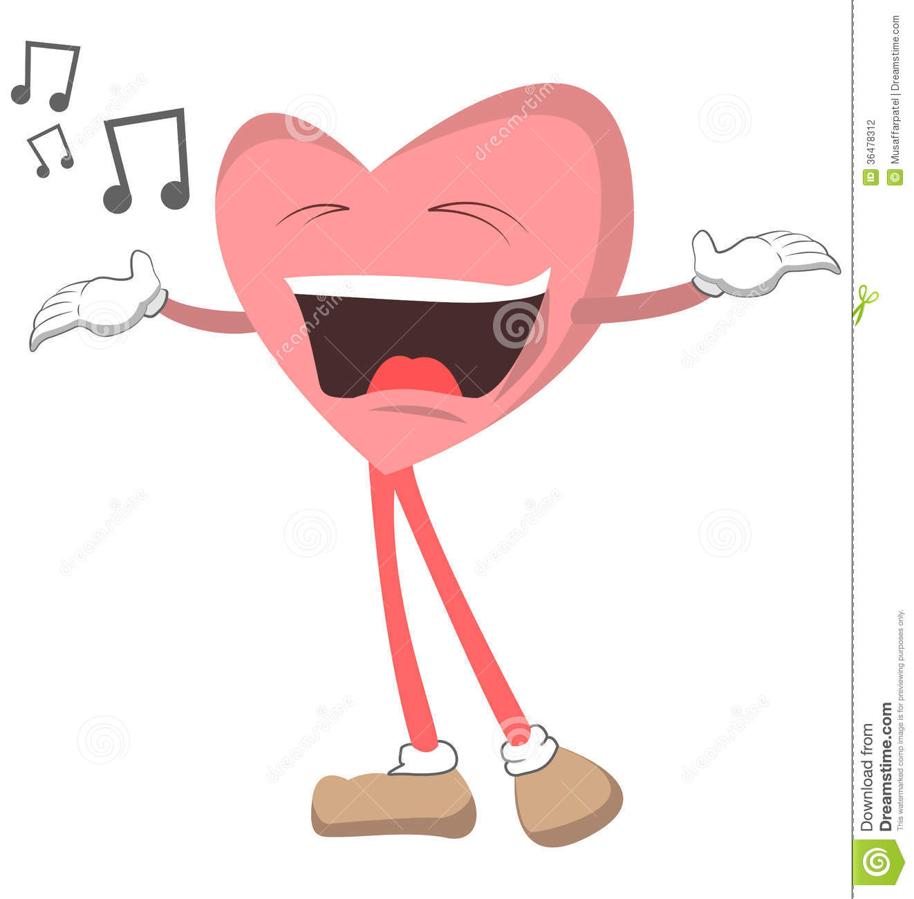 Stock Photography: Singing Heart. Image: 36478312