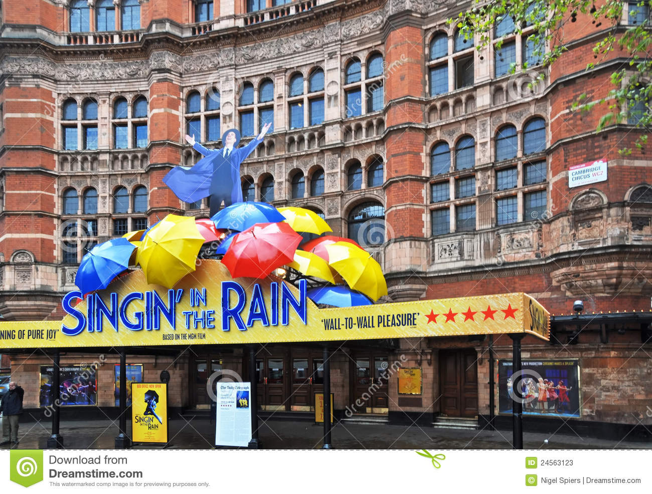 London united kingdom april 219 2012 singing in the rain musical