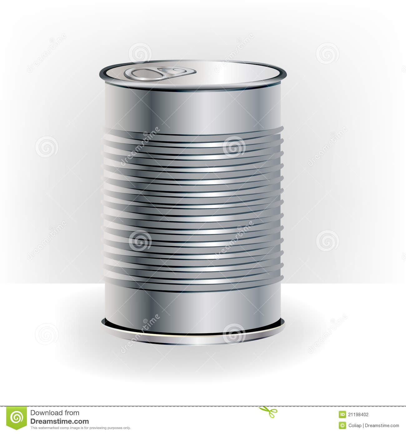 Single aluminum food can stock photography image 21198402 for Aluminum cuisine