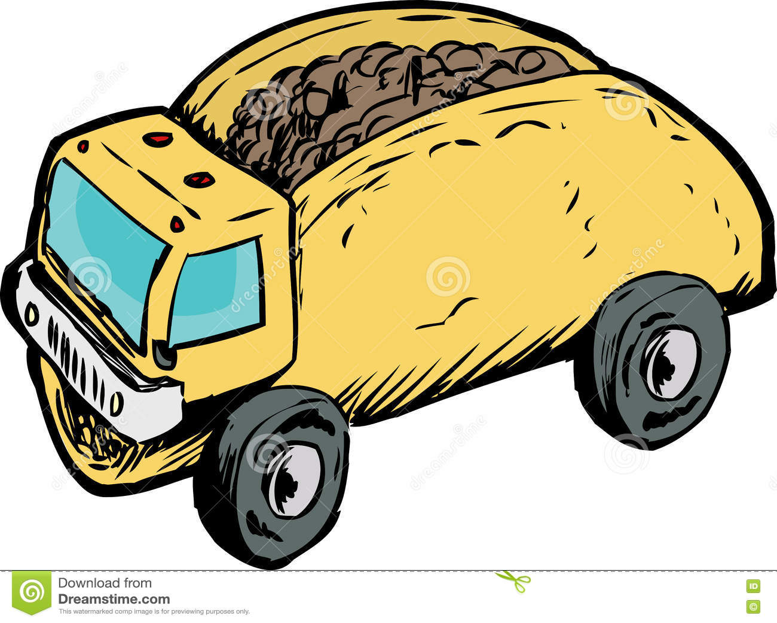 Single Beef Taco Dump Truck Drawing