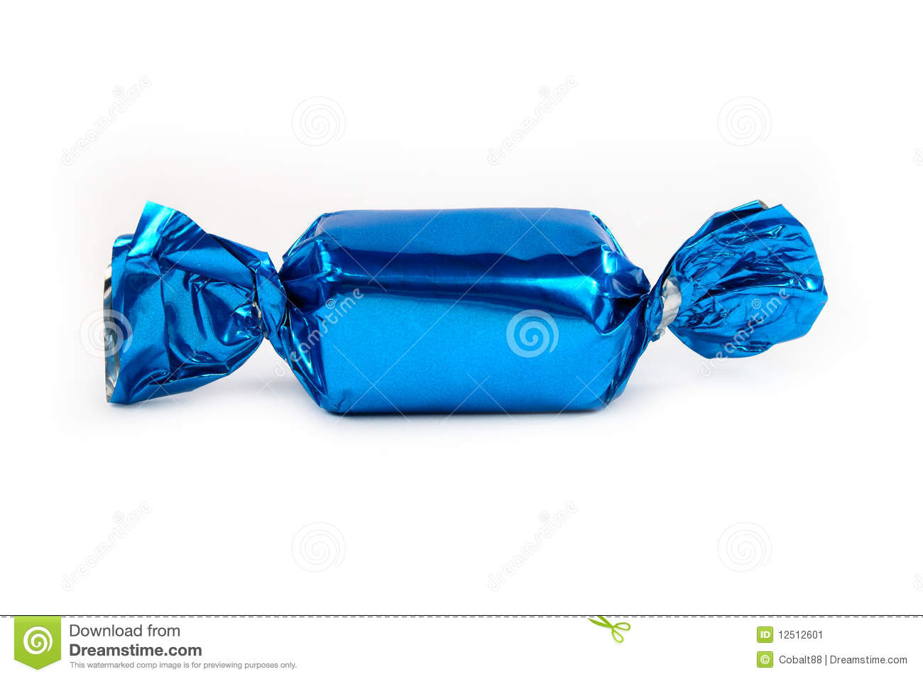 Blue Wrapped Candy Stock Photo - Image: 55106223