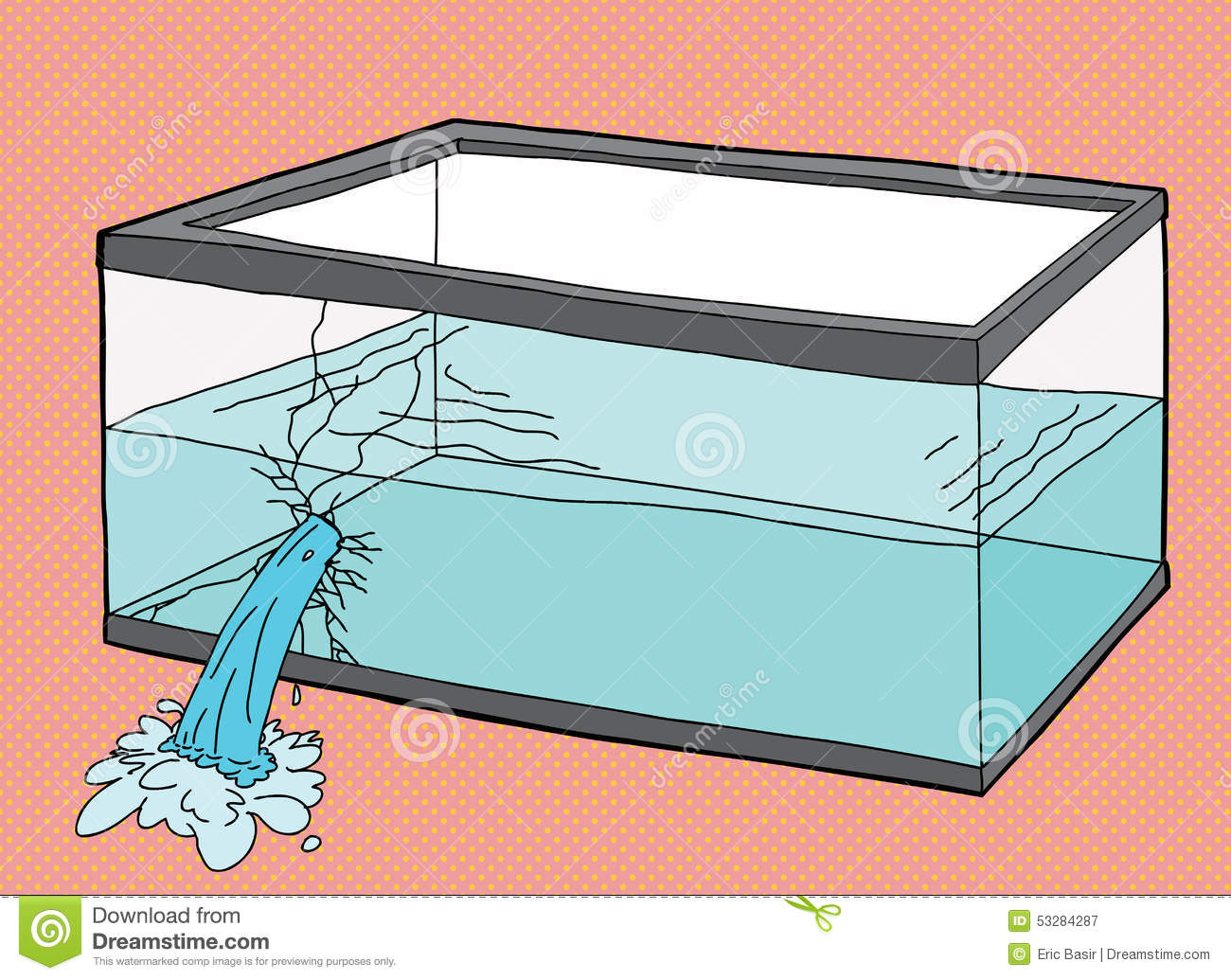 how to fix a cracked fish tank