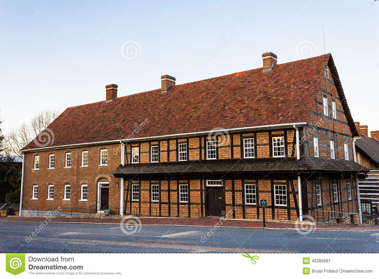 Single Brothers\' House At Old Salem Editorial Photo - Image of ...