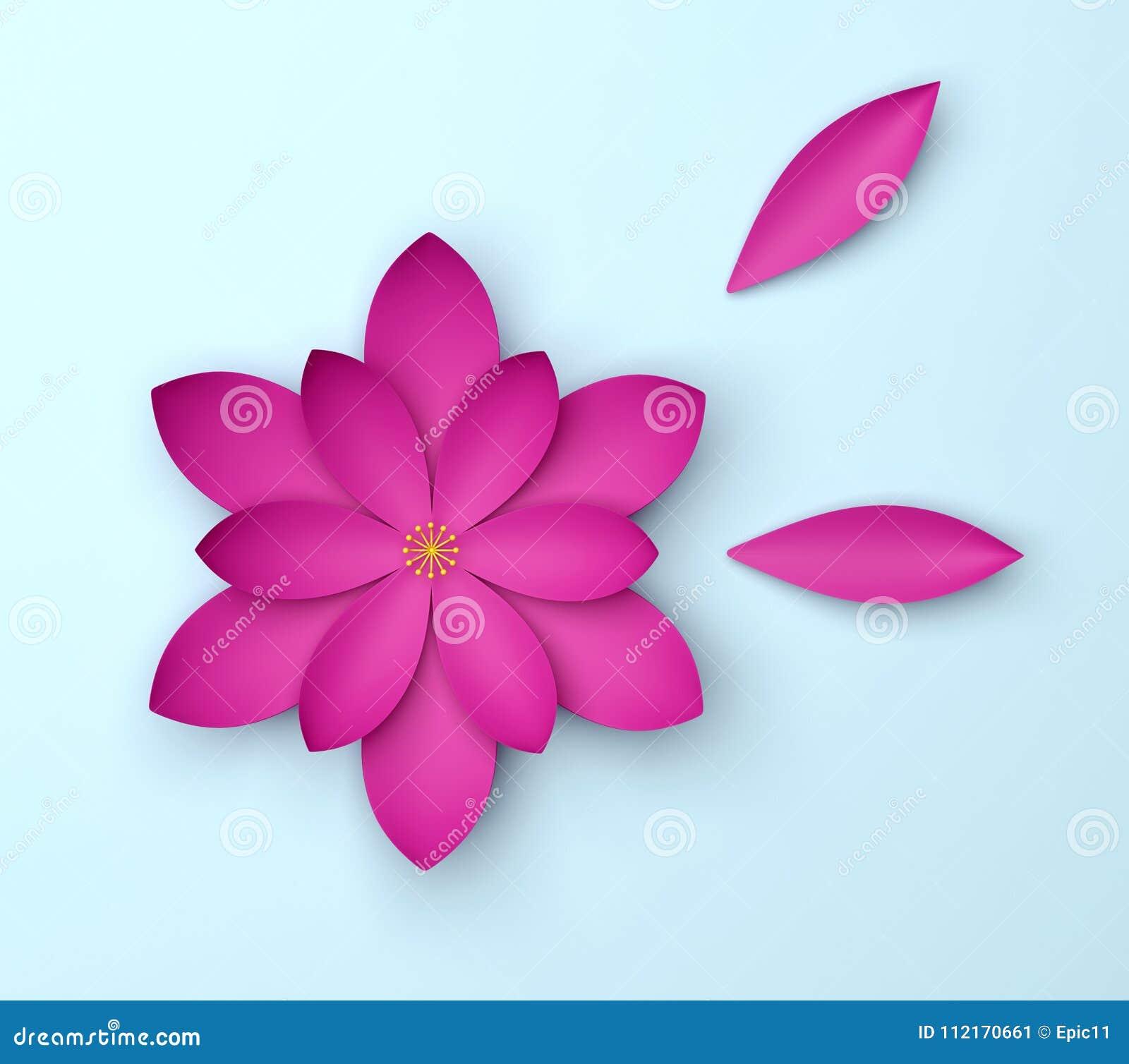 Single color decorative flower on blue background paper origami single color decorative flower on blue background paper origami lily izmirmasajfo