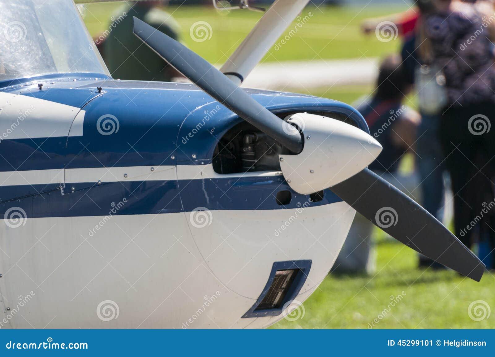 Single engine plane stock image. Image of landing ...