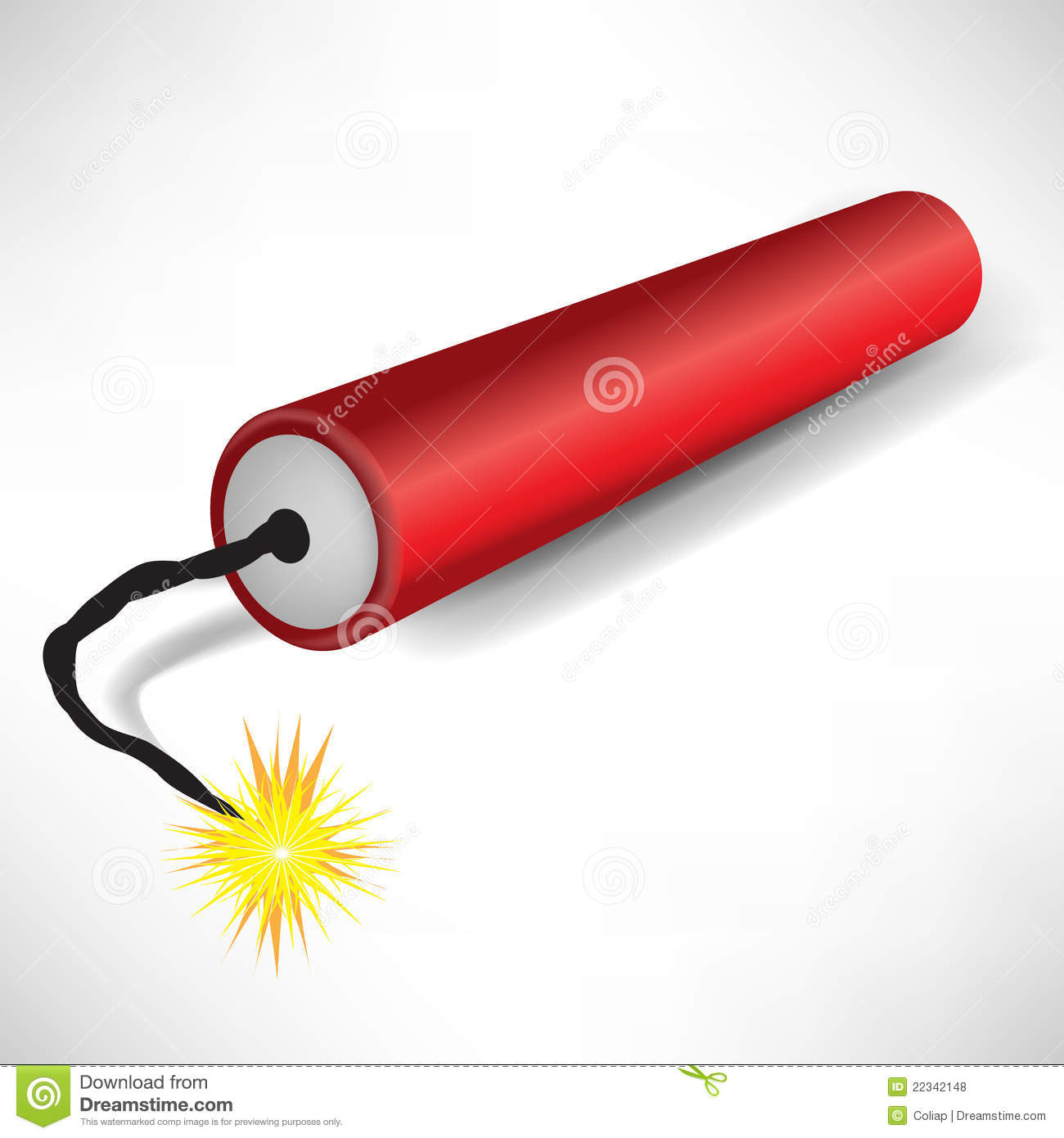 Single Exploding Dynamite Royalty Free Stock Photos - Image: 22342148
