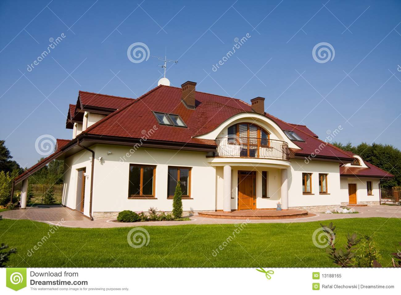 Single family big house stock image image of outdoor for Big house images