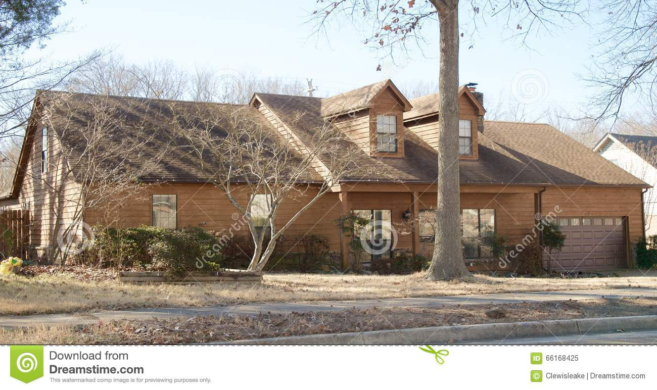 Single Family Home With Wood Siding Stock Image Image Of