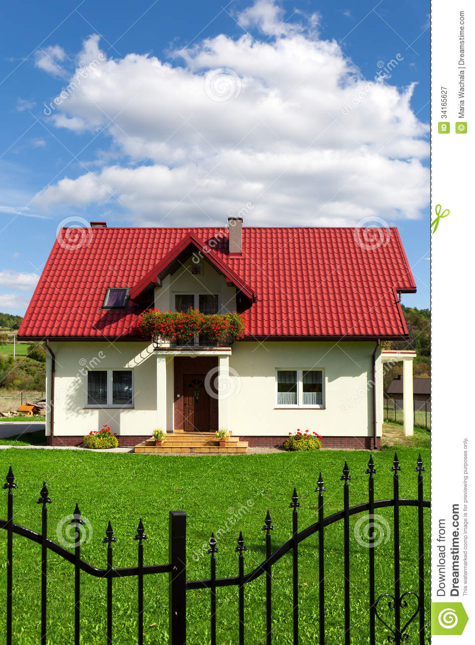 Single family house royalty free stock photography image 34165627 - Houses attic families children ...