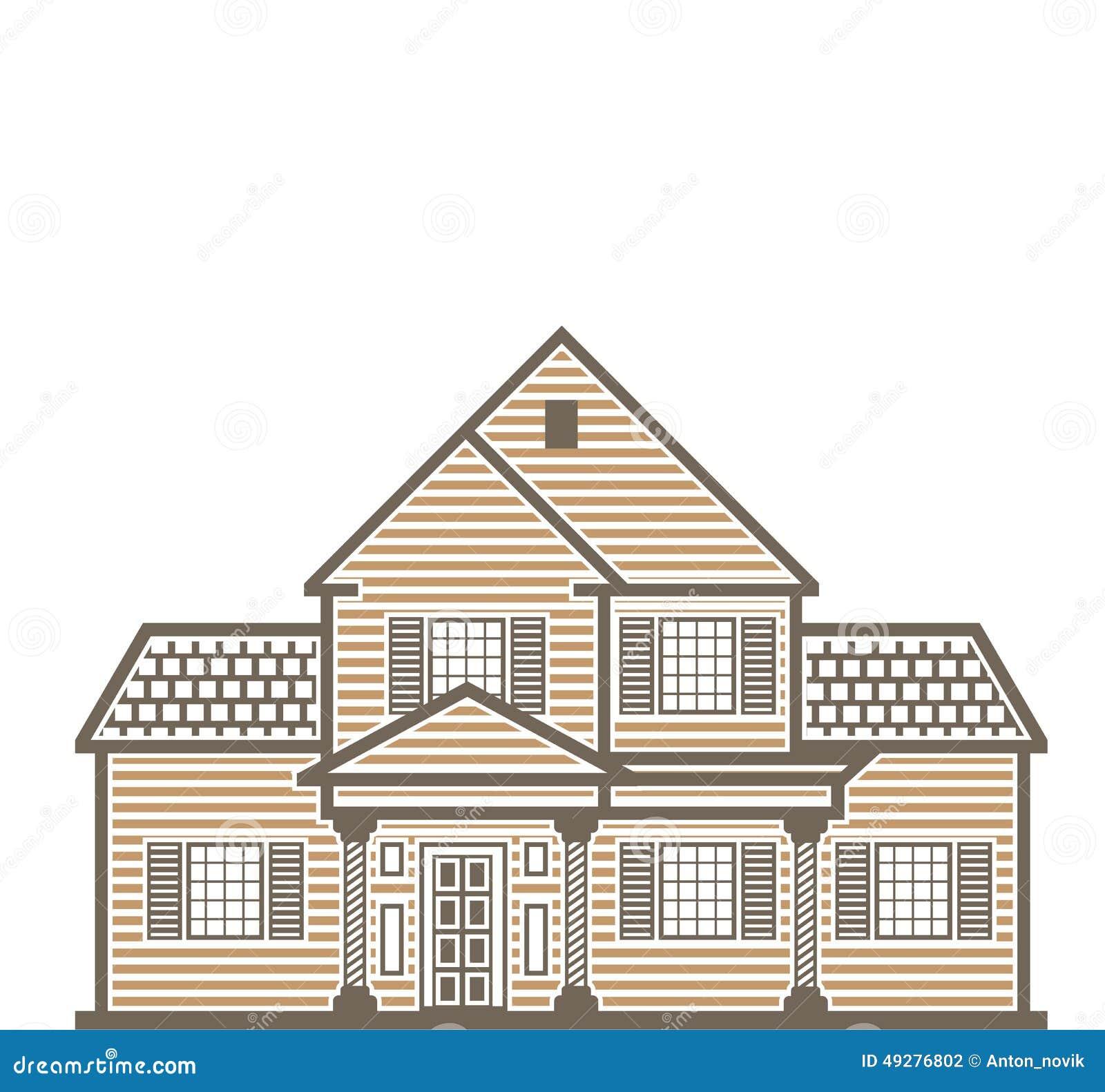 single family house vector stock vector image 49276802