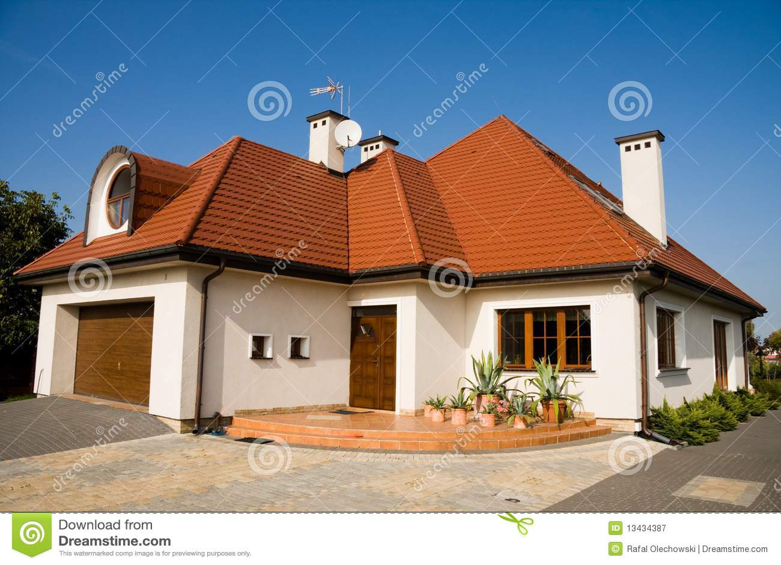 Single family medium house stock image image of living for Medium houses