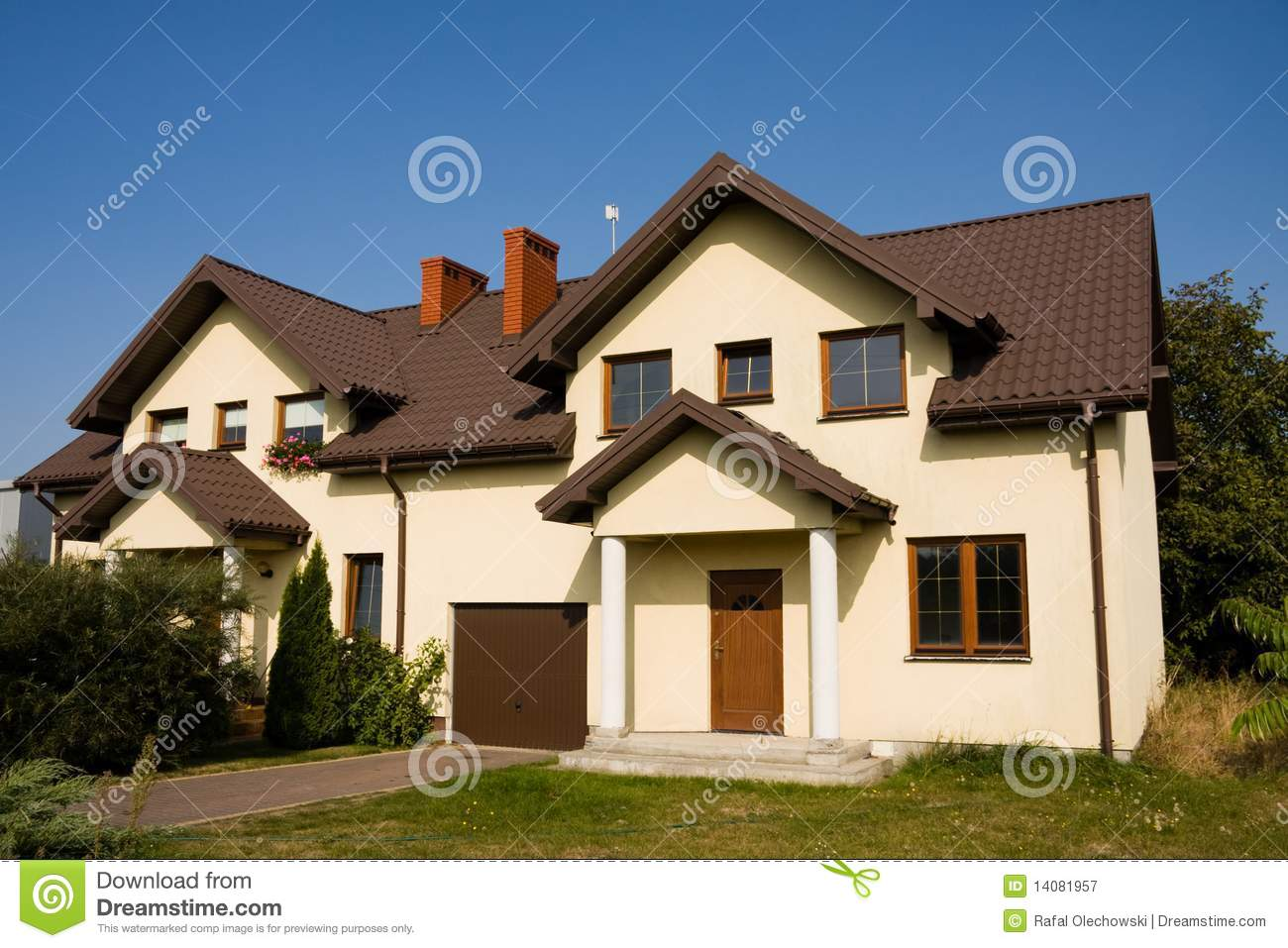 Single Family Small House Royalty Free Stock Photography