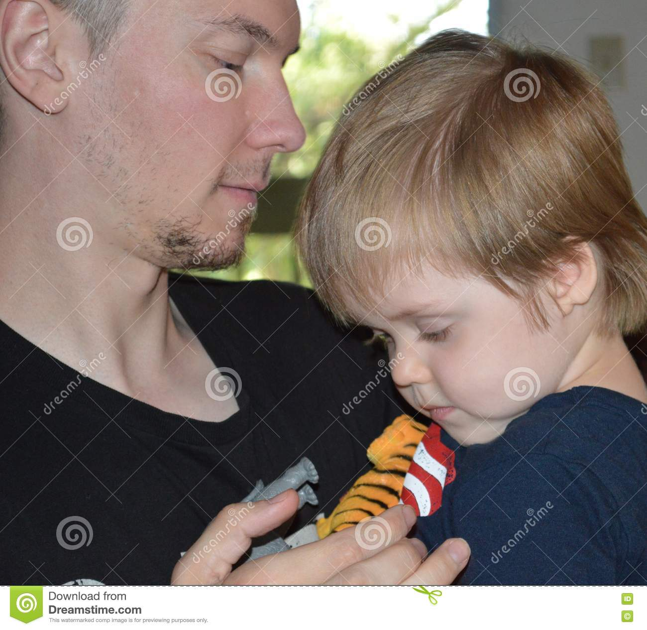 Single Father and SonTender Moment