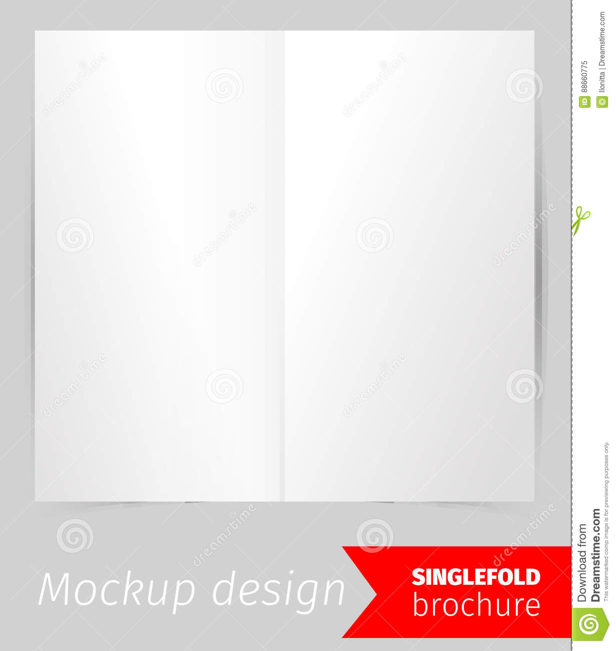 single fold brochure mockup design stock vector illustration of