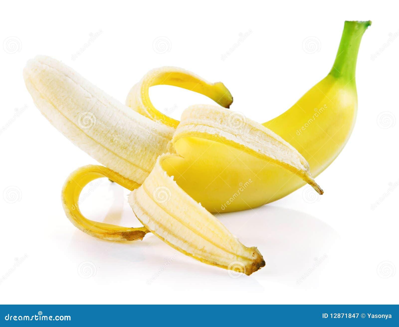 single fresh banana fruit isolated stock image image