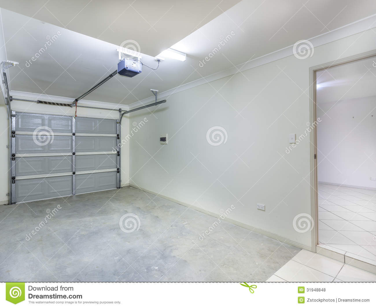 Single Garage Stock Photo Image Of Suburban Home