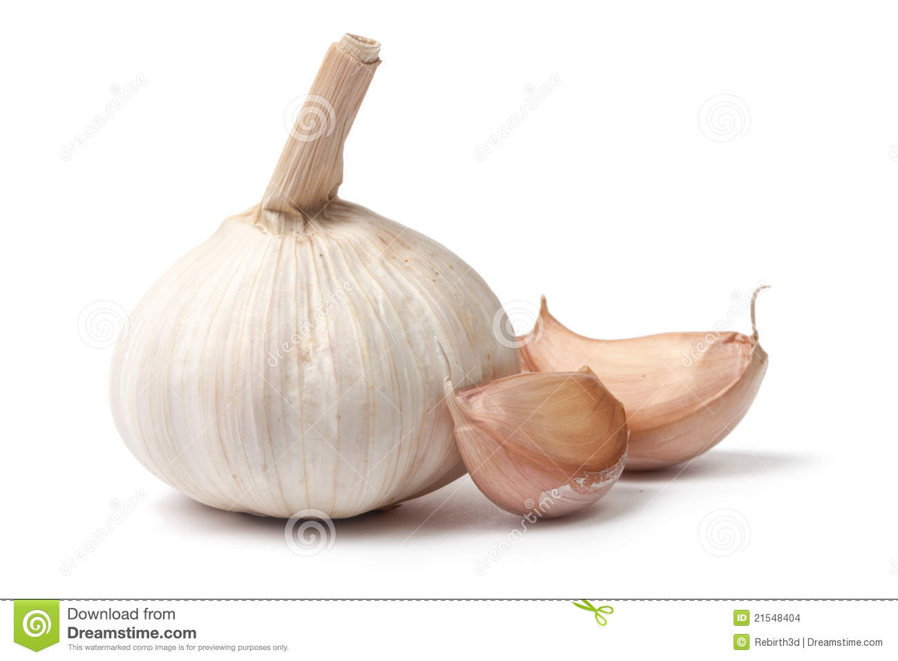 Single Garlic Bulb With Two Cloves Stock Images - Image ...