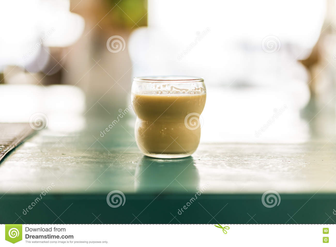 Single Glass Goblet With Chocolate Liquor Stock Photo - Image ...