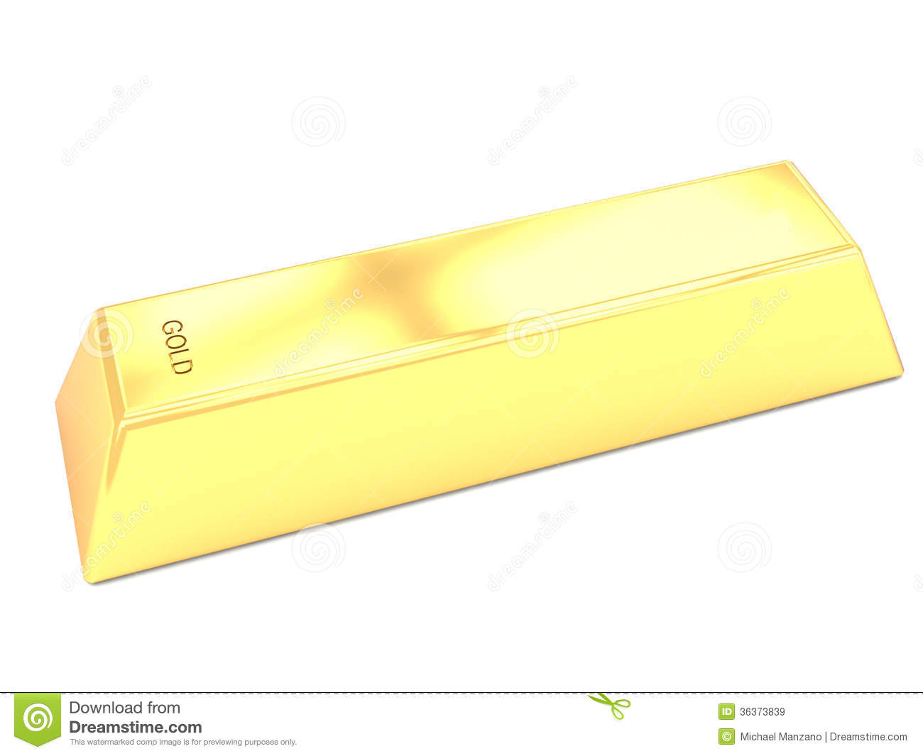 Gold Bar Clip Art Single gold bar royalty free