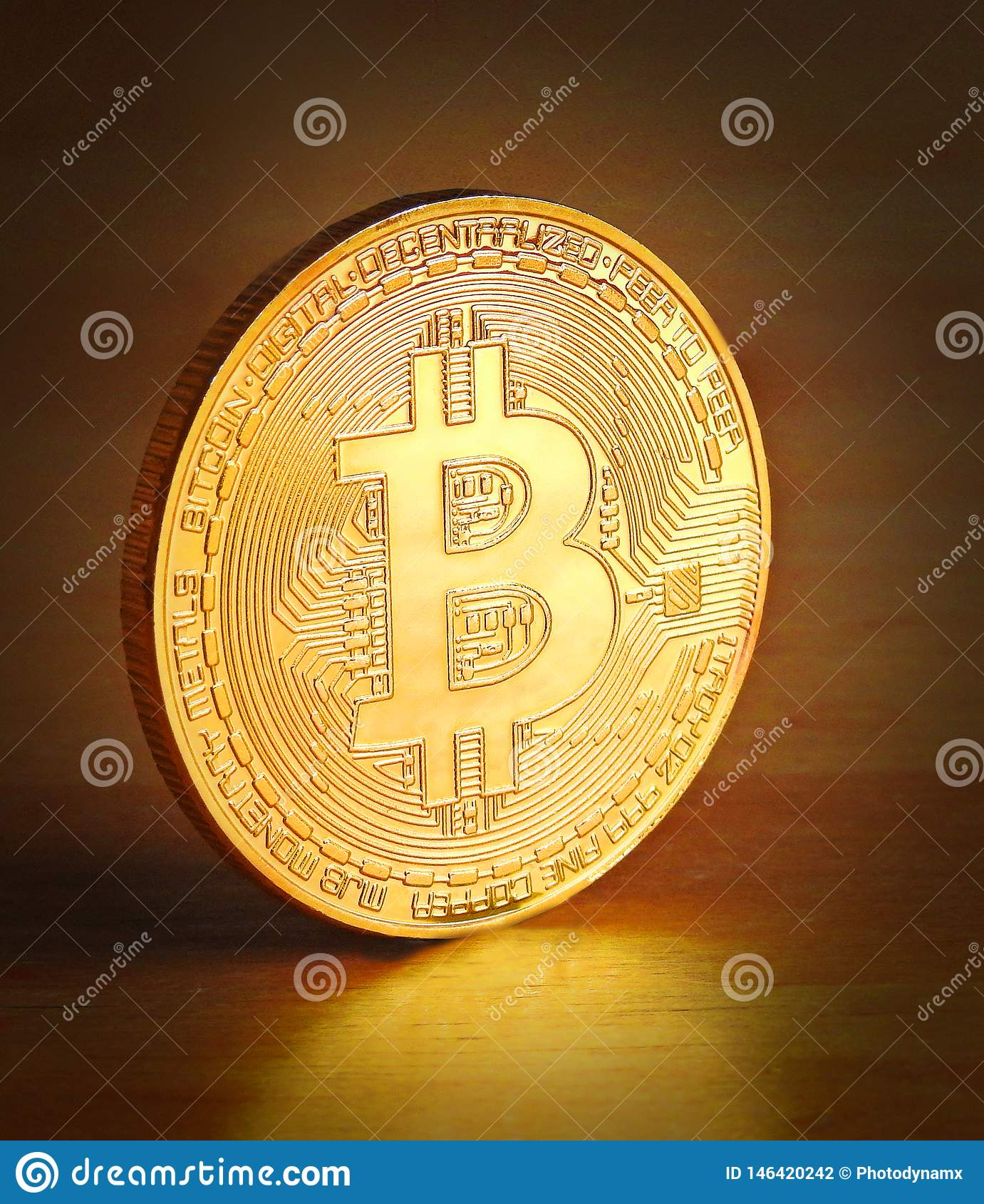 gold cryptocurrency coin