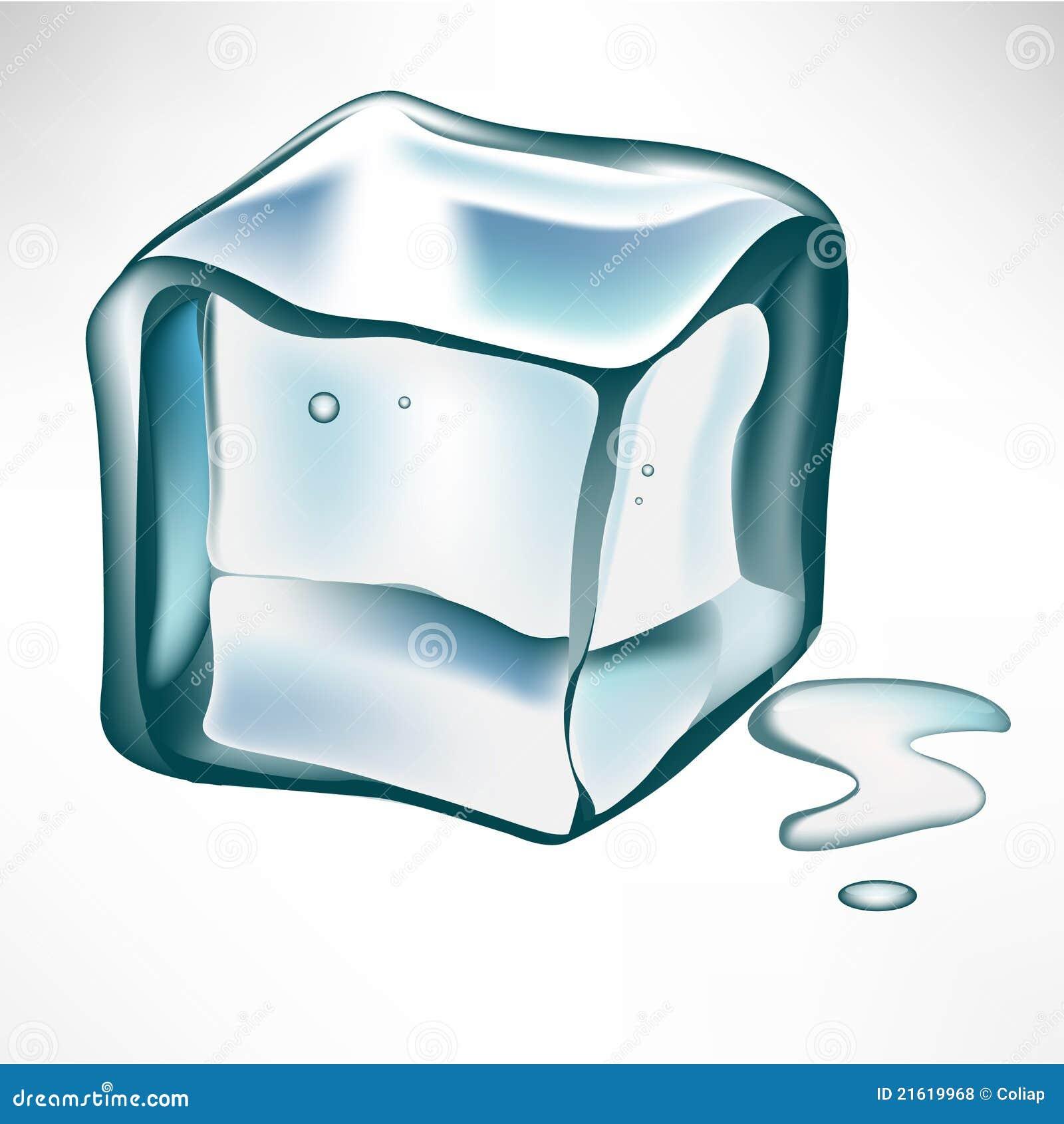 Single Ice Cube Stock Vector Illustration Of Liquor 21619968