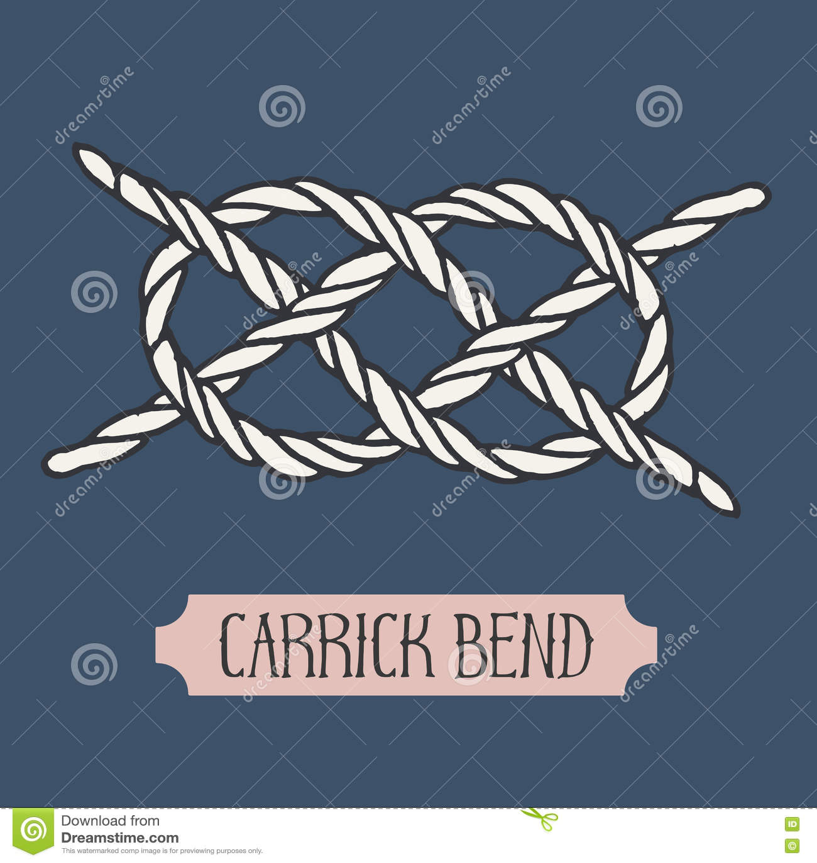 Single Illustration Of Nautical Knot  Stock Vector - Illustration of