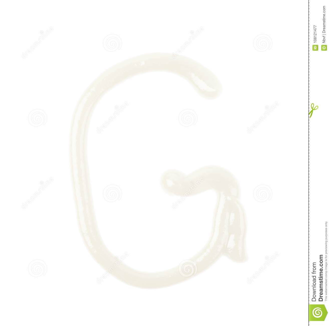 Single Letter Made Of Sauce Isolated Stock Image Image Of Letter