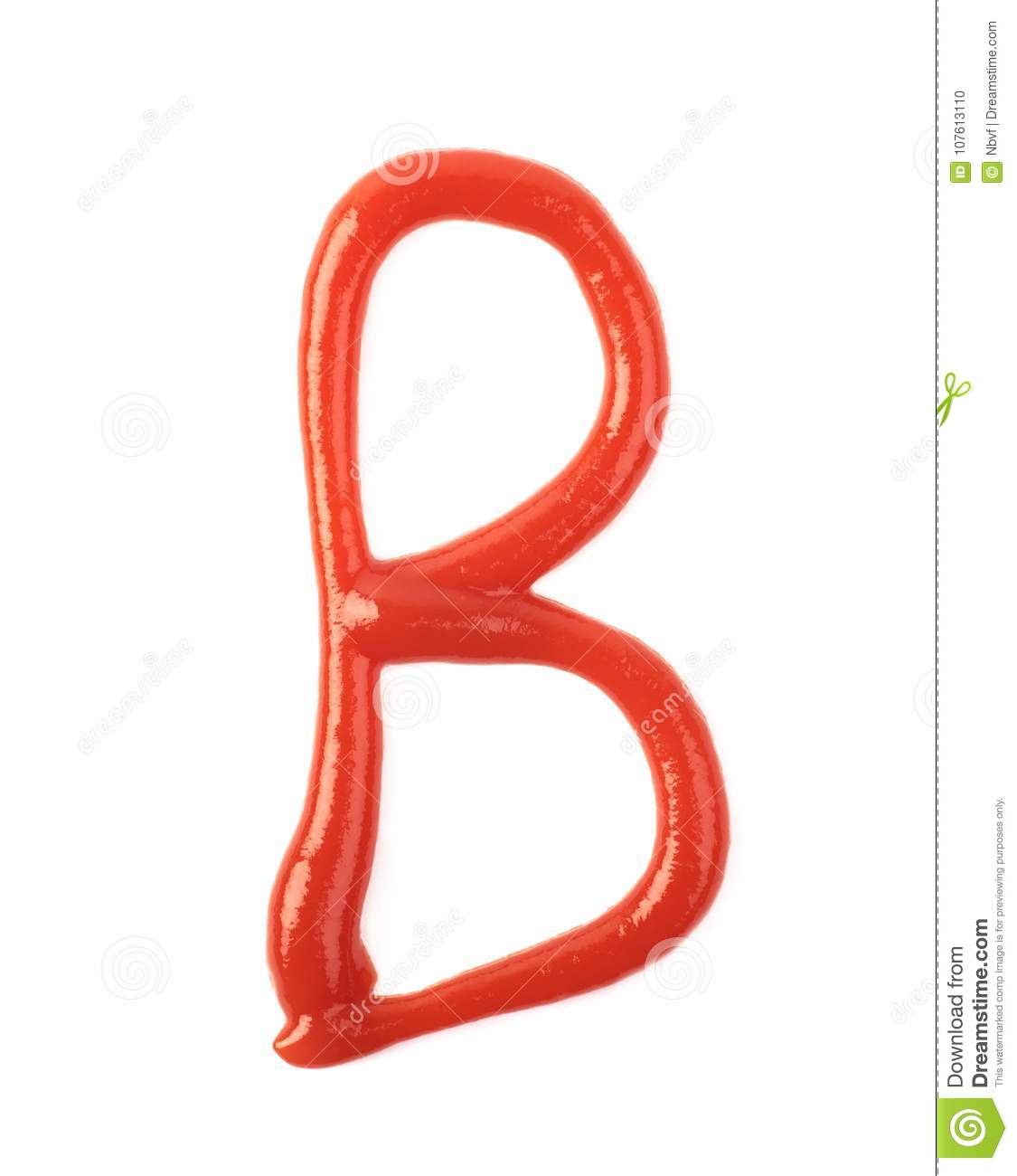 Single Letter Made Of Sauce Isolated Stock Photo Image Of Sauce