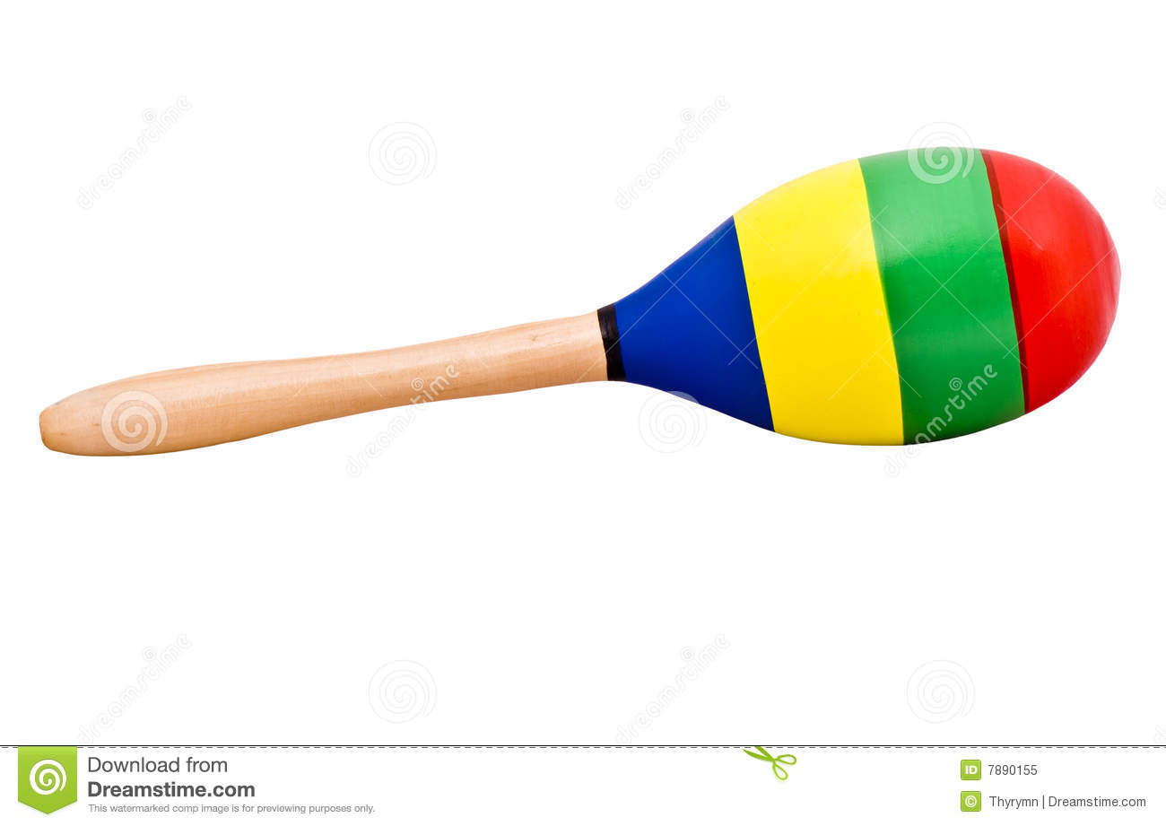 Single Maraca Royalty Free Stock Photo - Image: 7890155