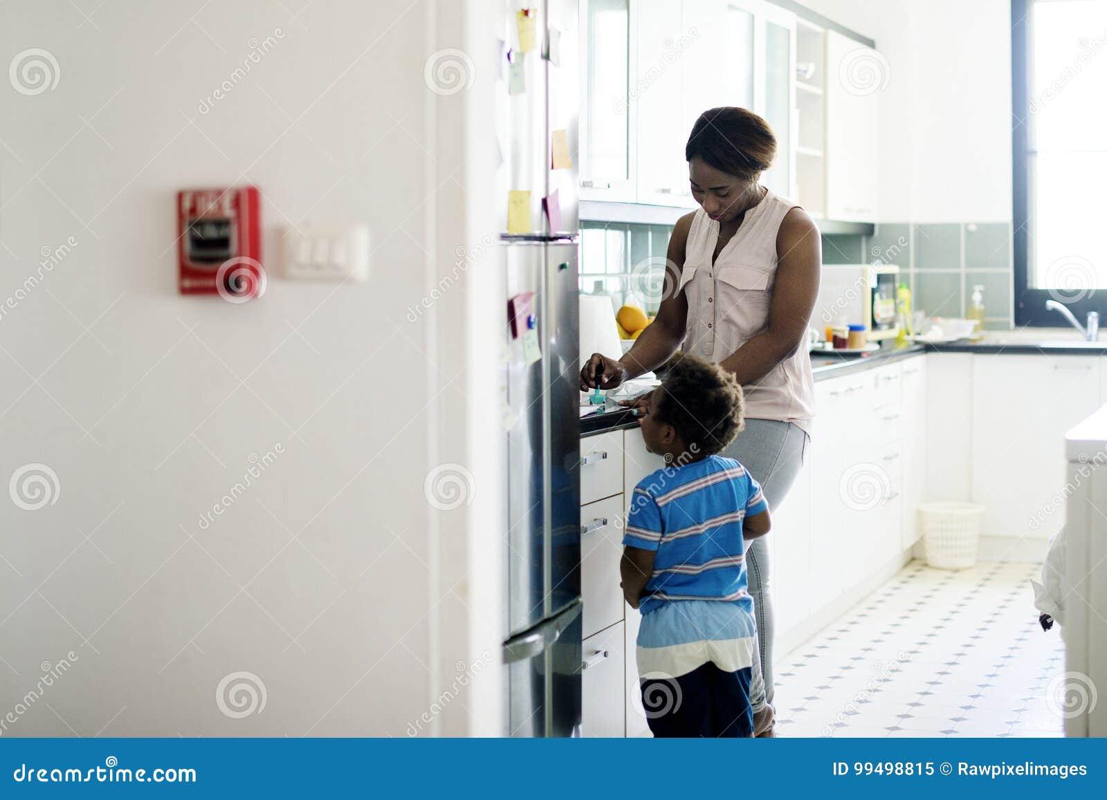 Single mom enjoying precious time with her child