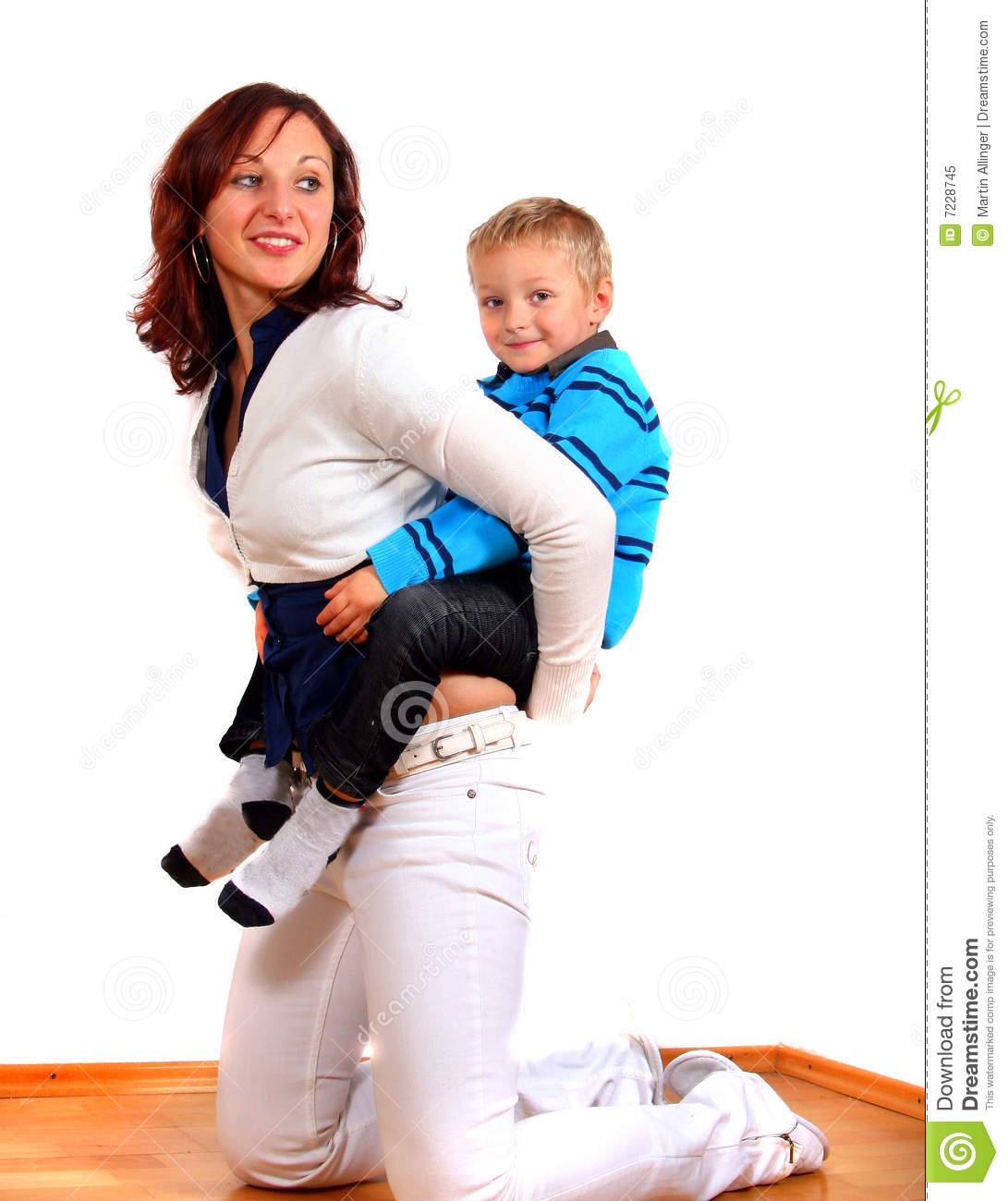 Single Mom And Her Boy Stock Image Image Of Outdoors 7228745