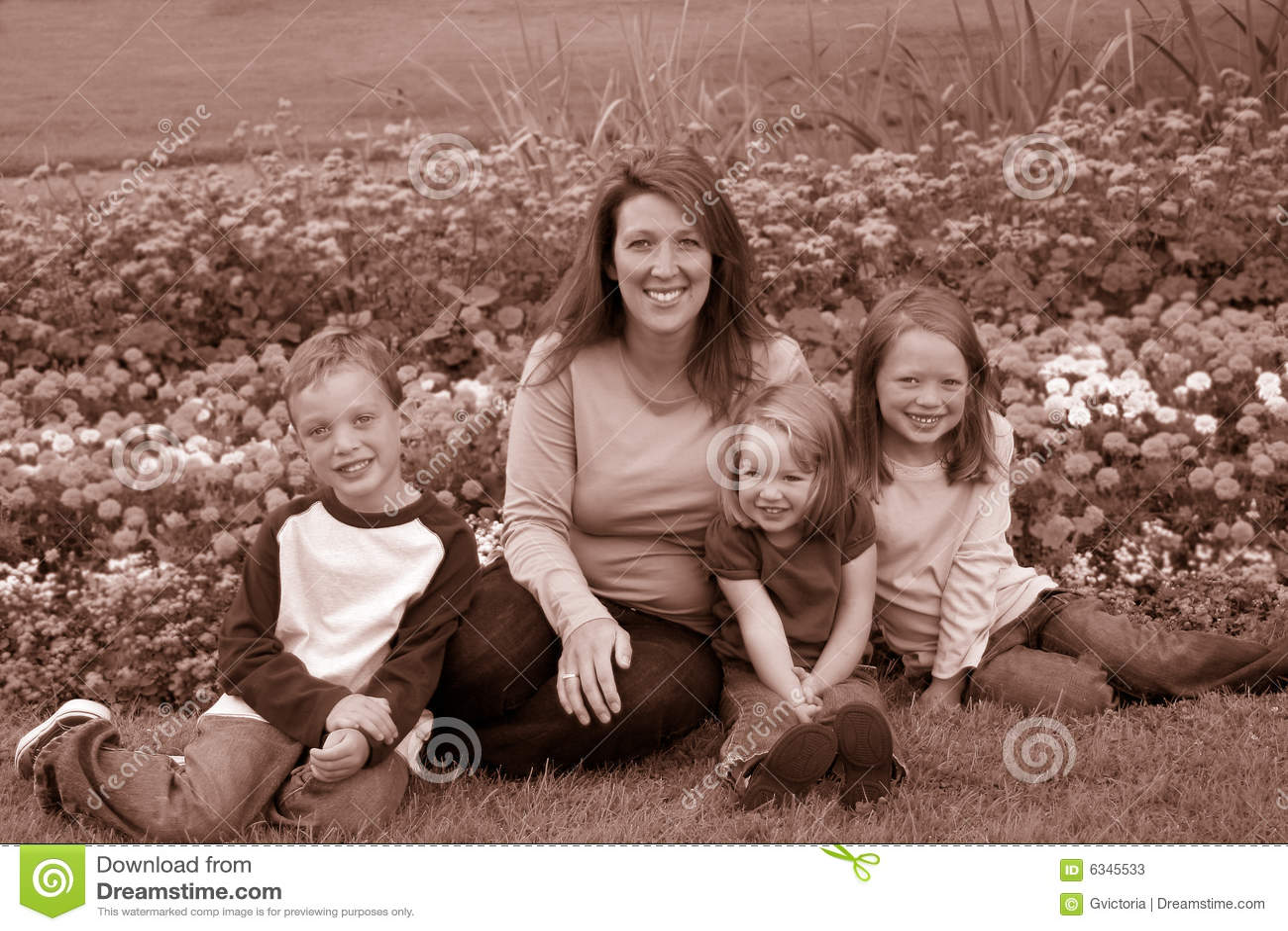 Single mom and kids