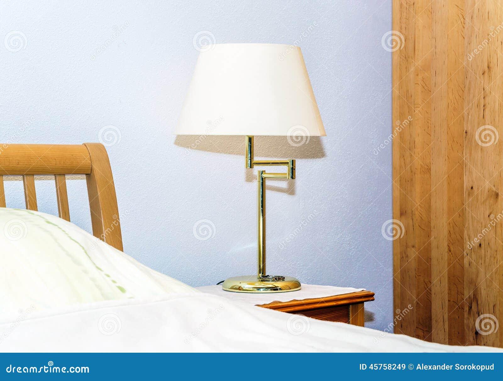 Lamp In Bedroom Single Night Lamp In Bedroom Stock Photo Image 45758249
