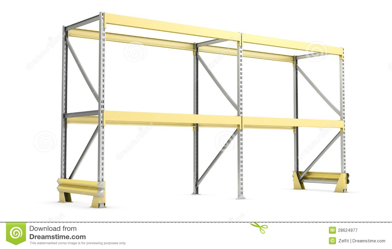 Single Pallet Rack Royalty Free Stock Photography - Image: 28624977