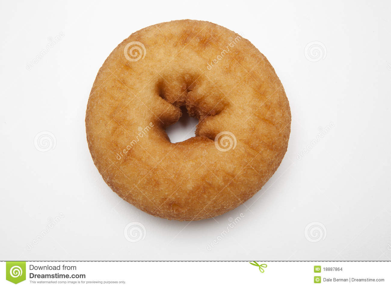 Photographs of a single plain doughnut on a white background.