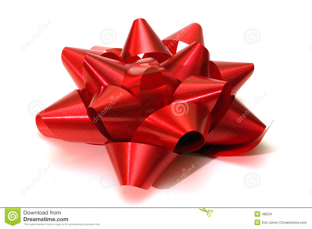 A Single Red Christmas Bow Stock Images - Image: 48534