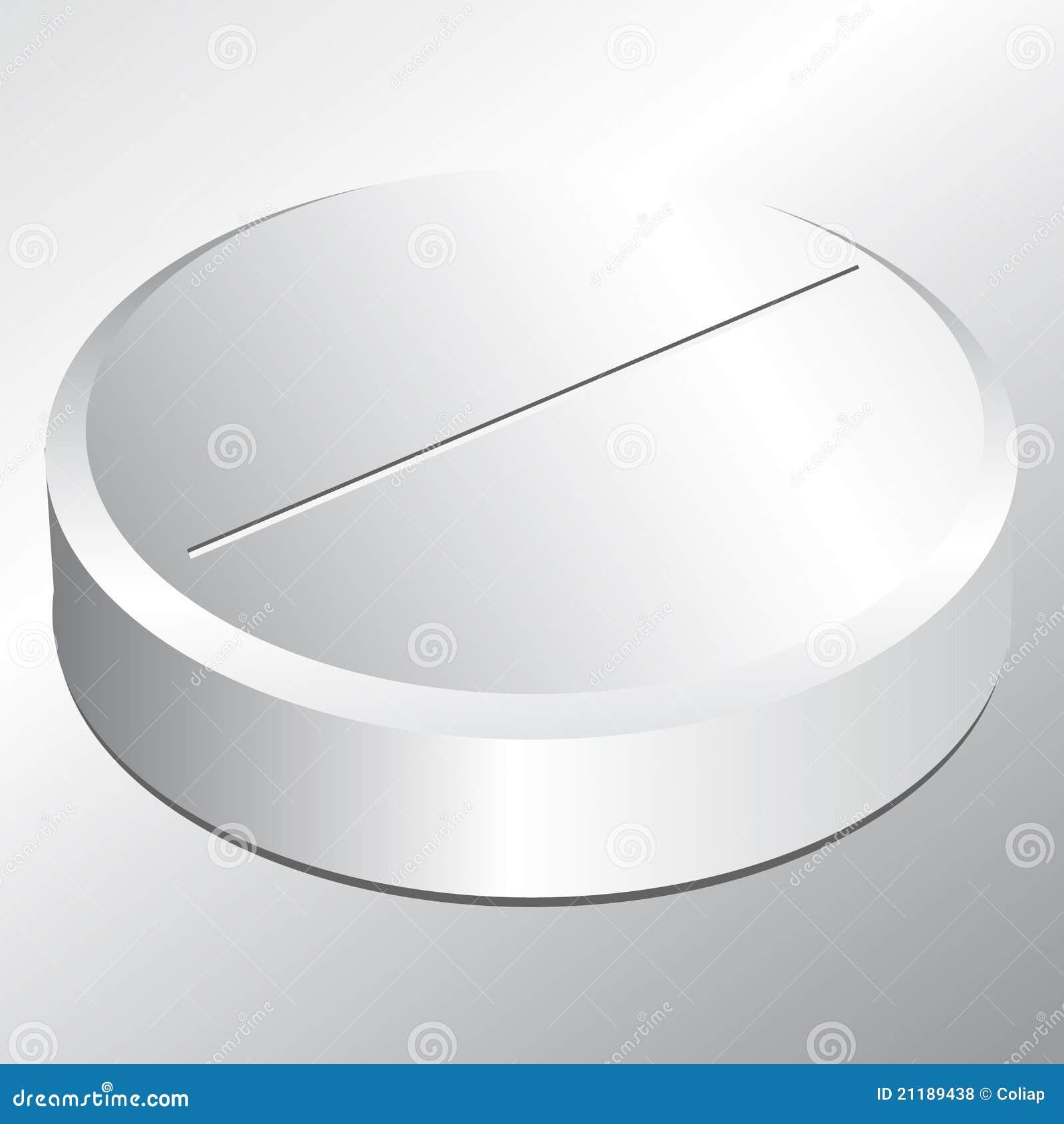 Single round pill