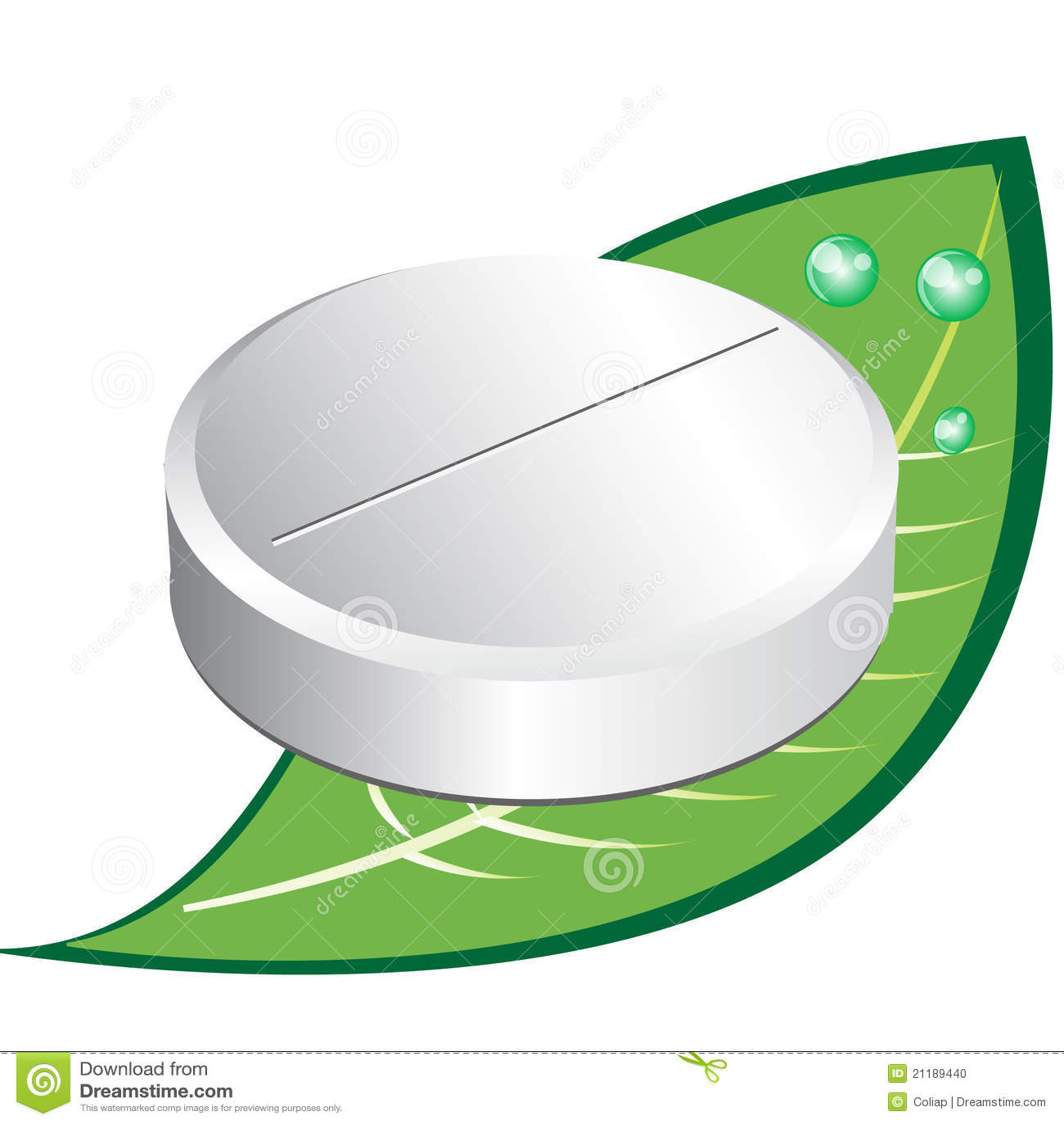 Single round pill on leaf